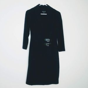 Connected Apparel Sweater Dress Buckle 6 #LL16